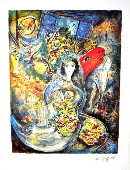 MARC CHAGALL (After) Bella Lithograph, I11 of 500