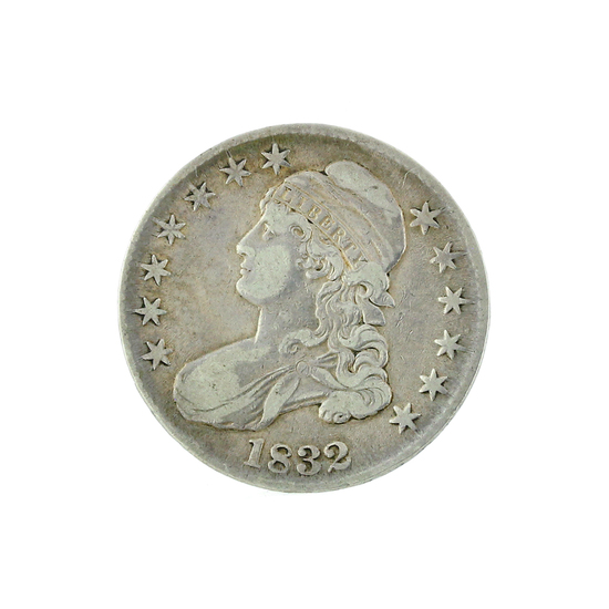 Extremely Rare 1832 Capped Bust Half Dollar Coin