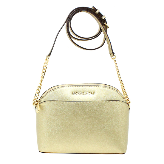 Gorgeous Brand New Never Used Pale Gold Michael Kors Medium Dome Crossbody Bag Tag Price $268