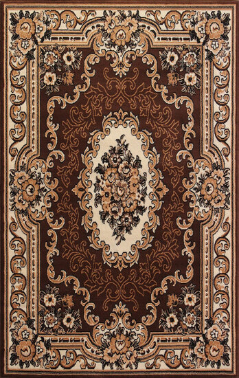 Gorgeous 5x8 Emirates (1514) Brown Rug  Plush, High Quality Made in Turkey (No Rugs Sold Out Of Coun