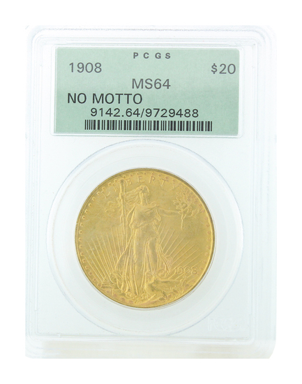 *Extremely Rare 1908 $20 St. Gaudens U.S. Gold Coin (DF)