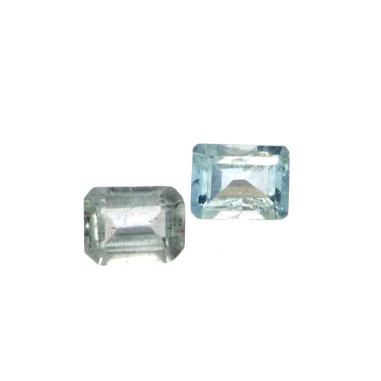 APP: 1.3k 4.23CT Rectangular Cut Aquamarine Parcel