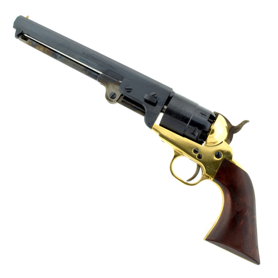 1851 Navy Revolver .44 Cal Brass Frame 7 1/2'' Blue Barrel (No Gun Sales To: NY, HI, AK. and other C
