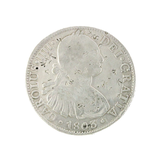Extremely Rare 1803 Eight Reales American First Silver Dollar Coin Great Investment