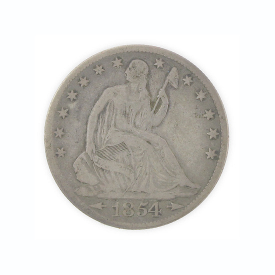 Extremely Rare 1854-O U.S. Liberty Seated Arrows At Date Half Dime Coin Great Investment!