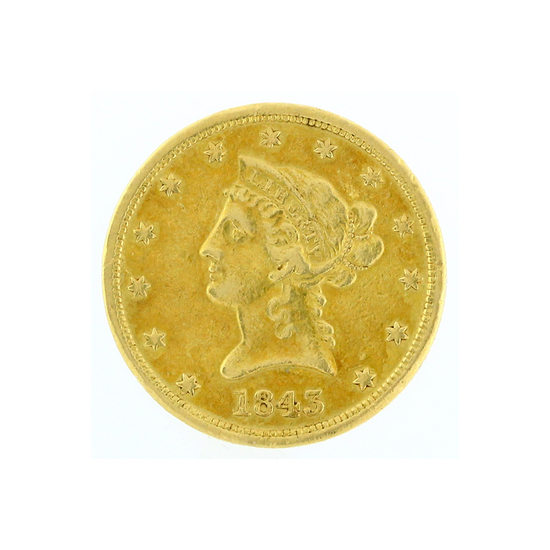 Rare 1843-O $10 Liberty Head Gold Coin Great Investment (DF)