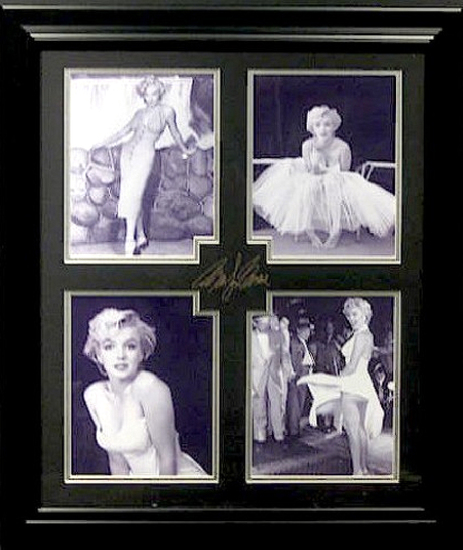 *Rare Marilyn Monroe Museum Framed Collage - Plate Signed
