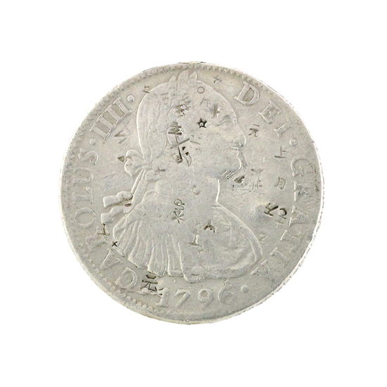 Extremely Rare 1796 Eight Reales American First Silver Dollar Coin Great Investment