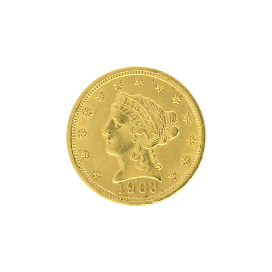 Rare 1903 $2.50 Liberty Head Gold Coin Great Investment