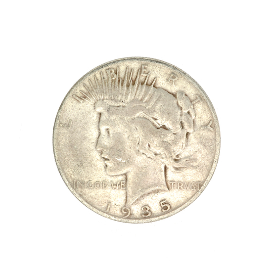 1935-S U.S. Peace Type Silver Dollar Coin