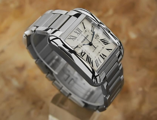 *2010 Cartier Tank Anglaise Automatic Stainless Mens Watch -P-