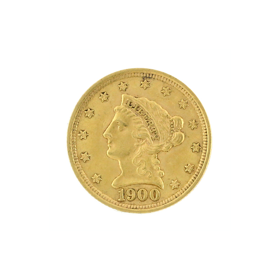 Rare 1900 $2.50 Liberty Head Gold Coin Great Investment (DF)