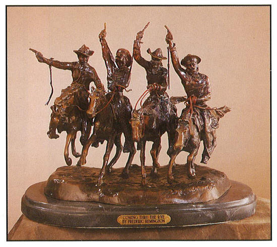 *Very Rare Large Coming Thru The Rye Bronze by Frederic Remington 29'''' x 30''''  -Great Investment