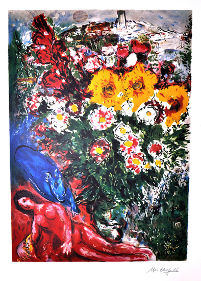 MARC CHAGALL (After) Les Soucis Print, 412 of 500