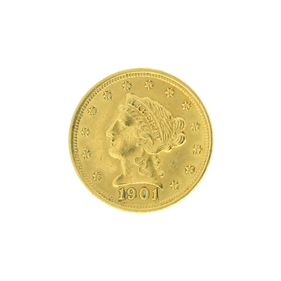 Rare 1901 $2.50 Liberty Head Gold Coin Great Investment