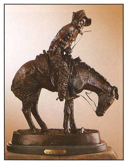 *Very Rare Small Norther Bronze by Frederic Remington 9.5'''' x 7.5''''  -Great Investment- (SKU-AS)