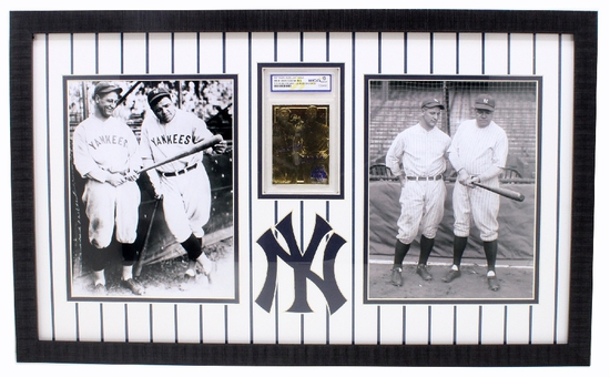 Rare Ruth / Gehrig 23kt. Gold Anniversary Baseball Card Graded Gem – MT 10 – Great Investment -PNR-