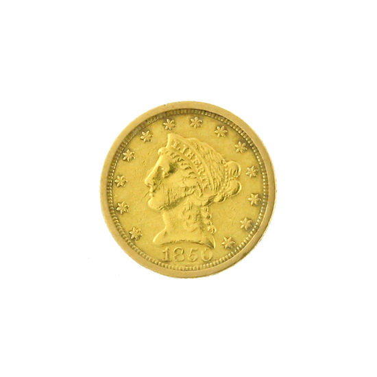 *Extremely Rare 1850-O $2.5 U.S. Liberty Head Gold Coin (DF)
