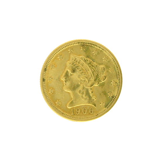 Rare 1906 $2.50 Liberty Head Gold Coin Great Investment