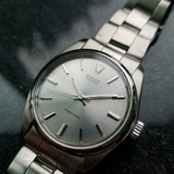 *ROLEX Oyster Precision Manual-Wind c.1971 All Stainless Steel Men's Watch -P-