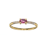 APP: 0.6k Fine Jewelry 14KT. Gold, 0.26CT Ruby And Diamond Ring