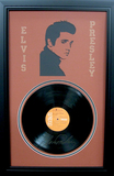 *Rare Elvis Presley Vinyl Record and Laser Cut Mat Museum Framed Collage - Plate Signed