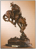 *Very Rare Small Outlaw Bronze by Frederic Remington 9.5'''' x 7.5''''  -Great Investment- (SKU-AS)