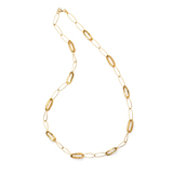 *Fine Jewelry 14KT. Gold, Oval Links, Open Cage, 7.5GR. 22'' Necklace (GL Neck 3A/3B)
