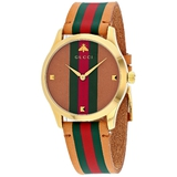 *Gucci Women's G-Timeless Round Stainless Steel Case Multi-colored Dial Sapphire Push/Pull Crown Qua