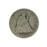1878 Liberty Seated Quarter Dollar Coin