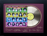 *Rare The Rolling Stones Some Girls Album Cover and Gold Record Museum Framed Collage - Plate Signed