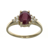 APP: 1.1k Fine Jewelry Designer Sebastian 14KT. Gold, 1.63CT Red Ruby And White Sapphire Ring