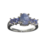 APP: 2.8k Fine Jewelry 2.97CT Violet Blue Tanzanite And Platinum Over Sterling Silver Ring