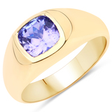 APP: 4.8k Gorgeous 14KT. Yellow Gold 1.42 Tanzanite and Diamond Ring (Vault_P)