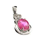 APP: 0.9k Fine Jewelry 2.84CT Ruby And Topaz Sterling Silver Pendant