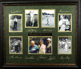 *Rare The Legends of Golf Museum Framed Collage 01 - Plate Signed