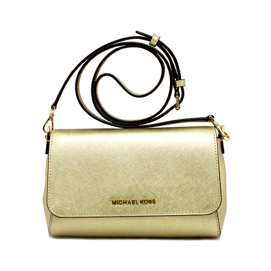 Gorgeous Brand New Never Used Pale Gold Michael Kors Medium Convertible Pouchette Tag Price $248.00