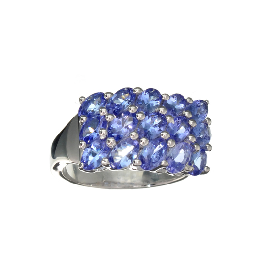 APP: 2.5k Fine Jewelry 3.75CT Oval Cut Tanzanite Over Sterling Silver Ring