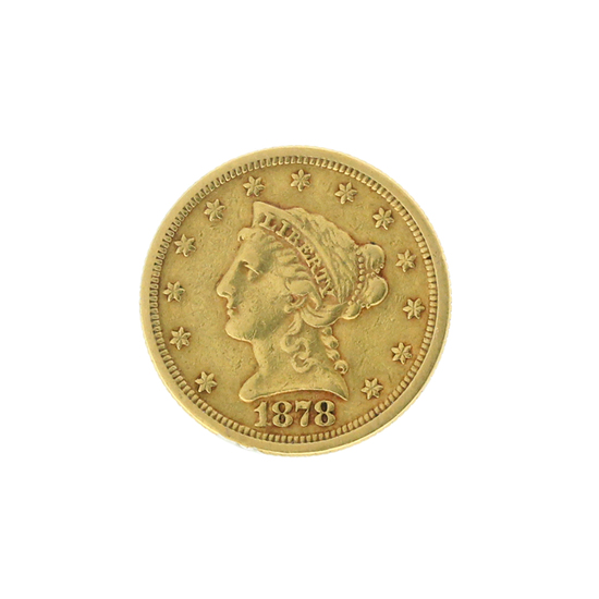 Rare 1878 $2.50 Liberty Head Gold Coin Great Investment