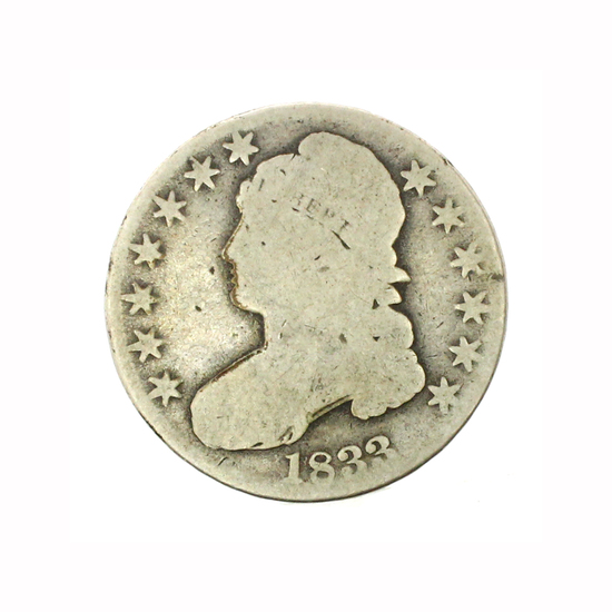 Rare 1833 Capped Bust Half Dollar Coin