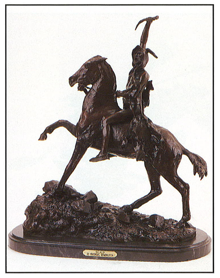 *Very Rare Large Scalp Bronze by Frederic Remington 25'''' x 20''''  -Great Investment- (SKU-AS)