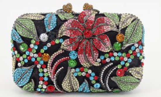 "*Rare Exquisite Swarovski Crystal Element Handbag by Christal Couture ""Alluring Jewels Speak Louder"