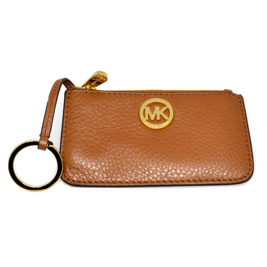 ^Brand New Michael Kors Fulton Luggage Leather Key Pouch
