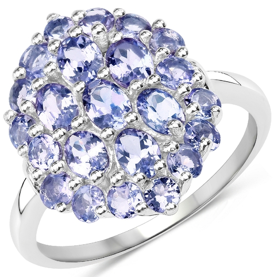 APP: 5.2k Gorgeous Sterling Silver 1.15CT Tanzanite Ring App. $5,225 - Great Investment - Stunning P