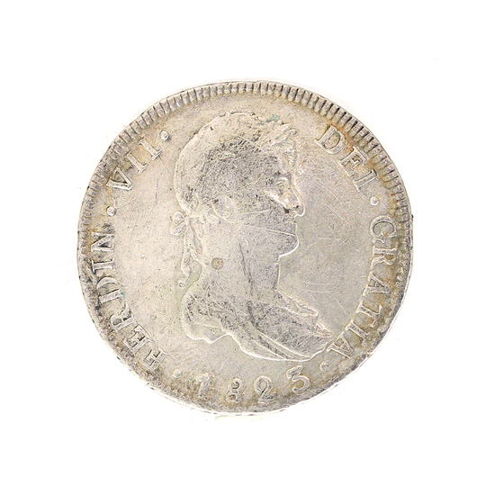 Extremely Rare 1823 Eight Reale American First Silver Dollar Coin Great Investment