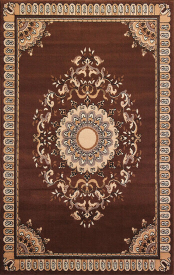 Gorgeous 5x8 Emirates (1515) Brown Rug High Quality  (No Sold Out Of Country)