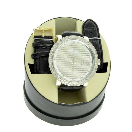 Men's Diamond Master Designer Watch On Case and One Interchangeable Band