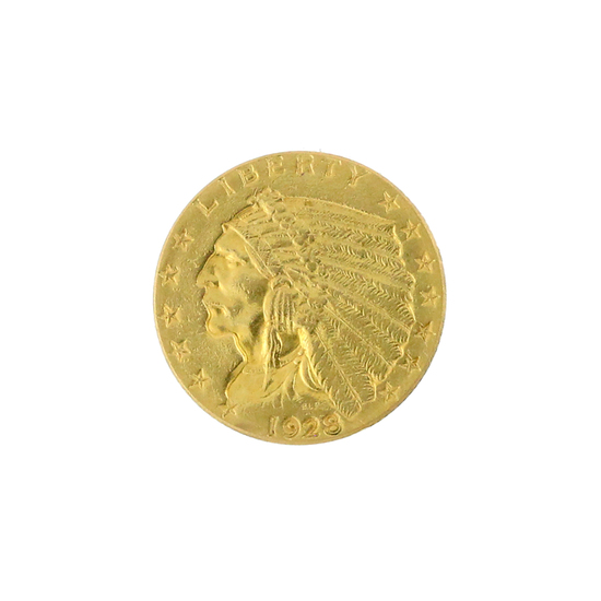 Extremely Rare 1925-D $2.5 U.S. Indian Head Gold Coin Great Investment