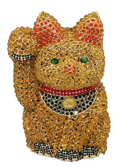 *Rare Exquisite Swarovski Crystal Element Handbag by Christal Couture - Lucky Cat - Great Investment