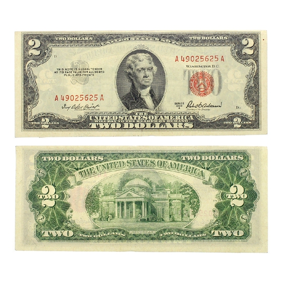 Rare 1953 $2 US Red Seal Note Great Investment
